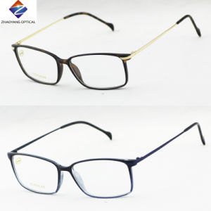 2016 Square Tr90 Optical Frame with Metal Temple pictures & photos