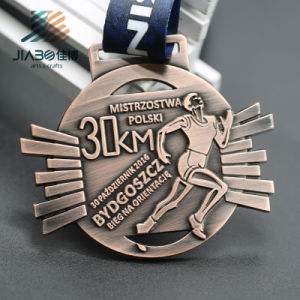 Zinc Alloy Custom Antique Silver and Bronze Award Running Marathon Sports Medal pictures & photos