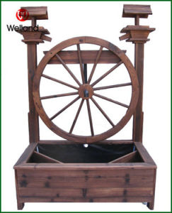 Garden Water Fountains Antique with Big Wagon Wheel