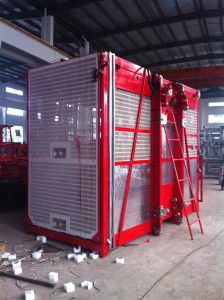 100m Construction Hoist Single and Double Cages pictures & photos