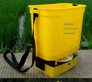 Electric Fertilizer Spreader Rechargeable Battery Fertilizer Spreader Dynamo Electric Fertilizer Spreader Portable Fertilizer Spreader pictures & photos