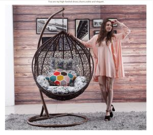Popular Cheap Price Rattan Swing Chair Rattan Hanging Egg Chair (D011B) pictures & photos