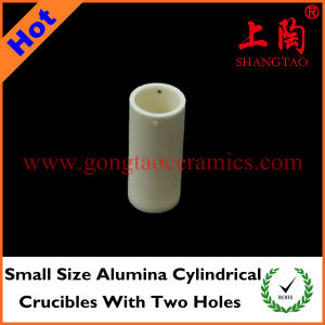 Small Size Alumina Cylindrical Crucibles with Two Holes pictures & photos