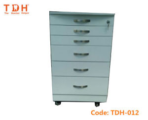 Dental Cabinet Stainless Steel Medical Mobile Trolley (TDH-012) pictures & photos