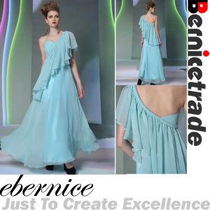 Blue One-Shoulder Evening Dress Wear Prom Dresses