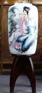 Antique Painted Porcelain Desk Lamp La-84 pictures & photos