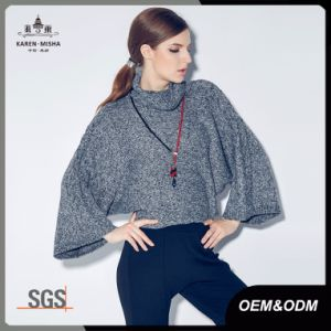 Batwing Sleeve Oversized Knit Cowl Neck Sweater for Women pictures & photos