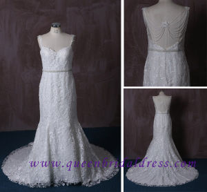 High Quality Lace Mermaid Wedding Dress with Spaghetti Strap