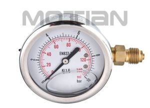 Glycerin Silicon Liquid Oil Filled Bourdon Tube Pressure Gauge pictures & photos