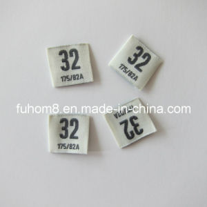 Customized Printing Clothing Woven Size/Care Label pictures & photos
