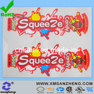 Water Resistant Semi Glossy Full Color Food Packaging Permanent Labels pictures & photos