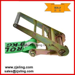 """4"""" 5000kg Double J-Hook Ratchet Strap 4"""" X 60′ Green pictures & photos"""