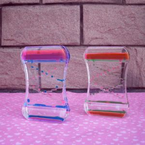 Big Acrylic Colorful Liquid Oil Hourglass Toy Mq-Ach02 pictures & photos