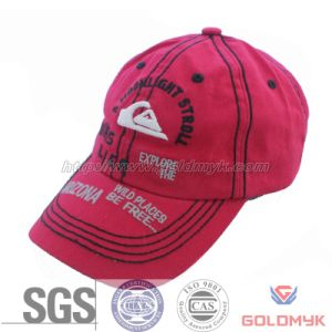 Top Quality Red 6 Panel Washed Cotton Wholesale Custom Baseball Cap pictures & photos