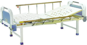 Hospital Furniture Movable Full-Fowler Hospital Bed with ABS Headboards B-18-1 pictures & photos
