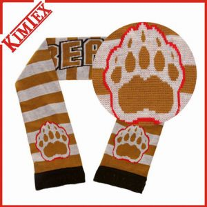 Winter Warmer Promotional Football Fans Acrylic Scarf pictures & photos