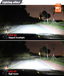 Newest Design Fanless 4500lm H4 LED Headlight for Car pictures & photos