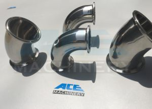 Sanitary Stainless Steel 90 Degree Threaded Elbow (DN15-200 & 1/2′′-8′′ ACE-WT-YT) pictures & photos