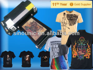 Most Effective Black and White DTG Garment Textile Tshirt Printer (UN-TS-MN109D) pictures & photos