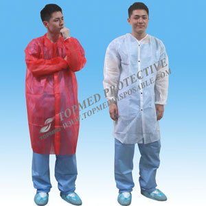 Disposable PP/SMS/Microporous Lab Coat pictures & photos