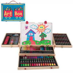 china drawing art set for kids in wooden box for children s gift ref 01006 china drawing. Black Bedroom Furniture Sets. Home Design Ideas
