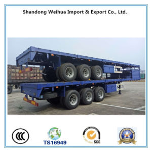 60 Tons Utility Trailer Side Wall Cargo Truck Semi Trailer for Sale pictures & photos