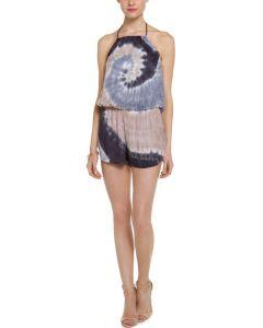 Ladies′ Tie Dye Halter Neck Sleeveless Jumpsuit (DTJ3)