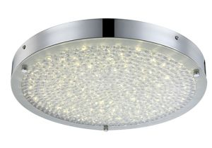 Modern 17W LED Chrome and Crystal Ceiling Lamp (LED-15109-RD) pictures & photos