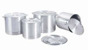 Cookware / Aluminum Stock Pot Set with Steamer (MY40-84--4) pictures & photos