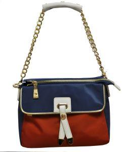 Nylon / Cow Leather Handbag Lady Bag Bs13017