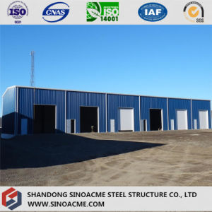Prefab Portal Frame Steel Building for Workshop with Doors pictures & photos