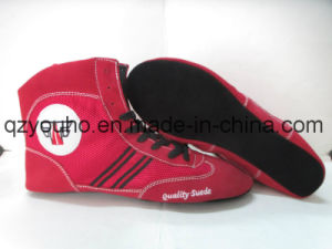Custom Design Russian Sambo Shoes Sports Wrestling Boxing Gear pictures & photos