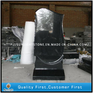 Russian Pure Black Granite Polishing Monument for Cemetery pictures & photos