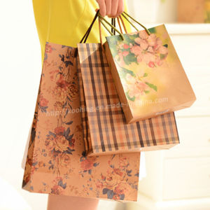 Colorful Kraft Paper Shopping Bag/Paper Gift Handbag pictures & photos