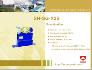 Elevator Overspeed Governor for Safety System (SN-SG-X3B) pictures & photos