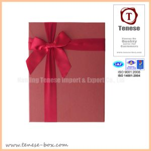 Good Quality Ribbon Cardboard Gift Rigid Box pictures & photos