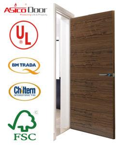 BS Certified Solid Wooden Fire Proof Door for Apartment (main safety door design) pictures & photos