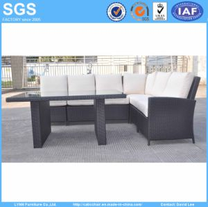 Rattan Furniture Corner Sofa with Dining Table pictures & photos