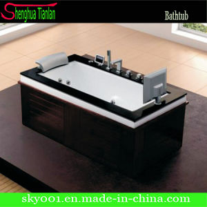 Corner Contemporary Whirlpool Soaking Bath Tub (TL-330) pictures & photos