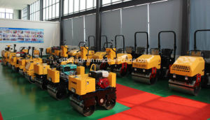 EPA Standard Gasoline Single Drum Walk Behind Mini Vibratory Roller pictures & photos