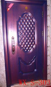 Economy Steel Door (WX-S-105) pictures & photos