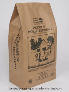 Kraft Paper Packaging Bag with Printing Square Opening Bag pictures & photos