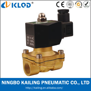 2/2 Way Brass Body Direct Acting Water Valve 2W160-15-DC12V pictures & photos