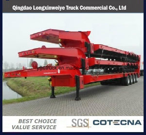 4 Axle 80 Ton Low Semi Truck Trailer pictures & photos