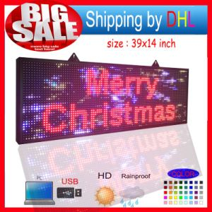 Outdoor LED Sign with Scrolling Message Display /P10 Full Color RGB LED Screen Display pictures & photos