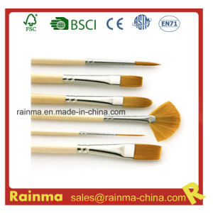 High Quality Artist Paint Brush with Nylon Hair Head pictures & photos