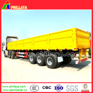 3 Axle Container Flatbed 50ton Side Wall Semi Truck Trailers pictures & photos