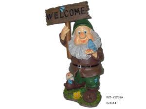 Polyresin Garden Dwarf Statue (D25-22239A)