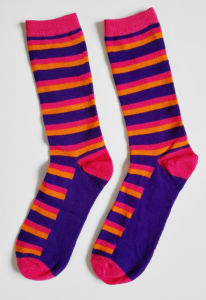 Custom Good Quality Rainbow Design Cotton Women Socks Happy Socks pictures & photos