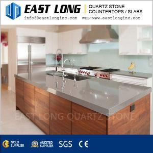 Dark Pure Black/Grey Quartz Stone Wholesale for Kitchen/Bathroom pictures & photos